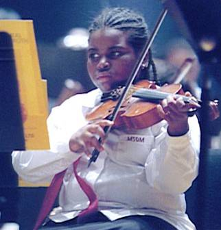 Young Gateways Music Festival violinist