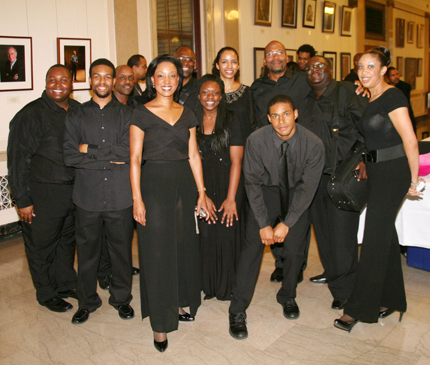 "Front Row, Left to Right: John ""BJ"" Griffin, Amyr Joyner, Kelly Hall-Tompkins, Cierra Asmond, Jarin Joyner.  Second Row, Left to Right:  Richard Steward-Byrd, Jeffry Boga, Anyango Yarbo-Davenport, David Burnett, Christipher  Burton, Tami Lee Hughes"