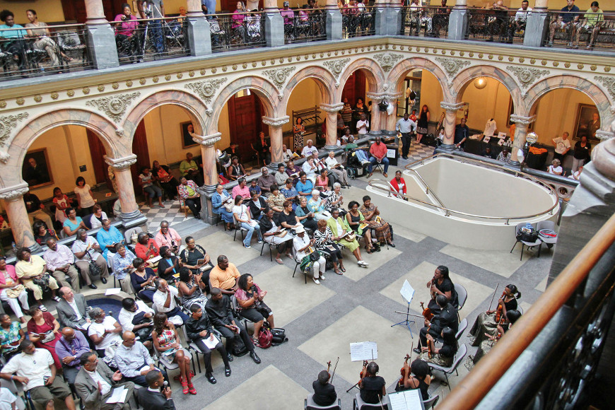 Audience at the Youth Showcase Concert in the City Hall Atrium