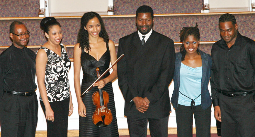 Left to Right: Kenneth Law, Tami Lee Hughes, Anyango Yarbo Davenport, Amadi Azikiwe, Patrice Jackson-Tilghman, Carl St. Jacques