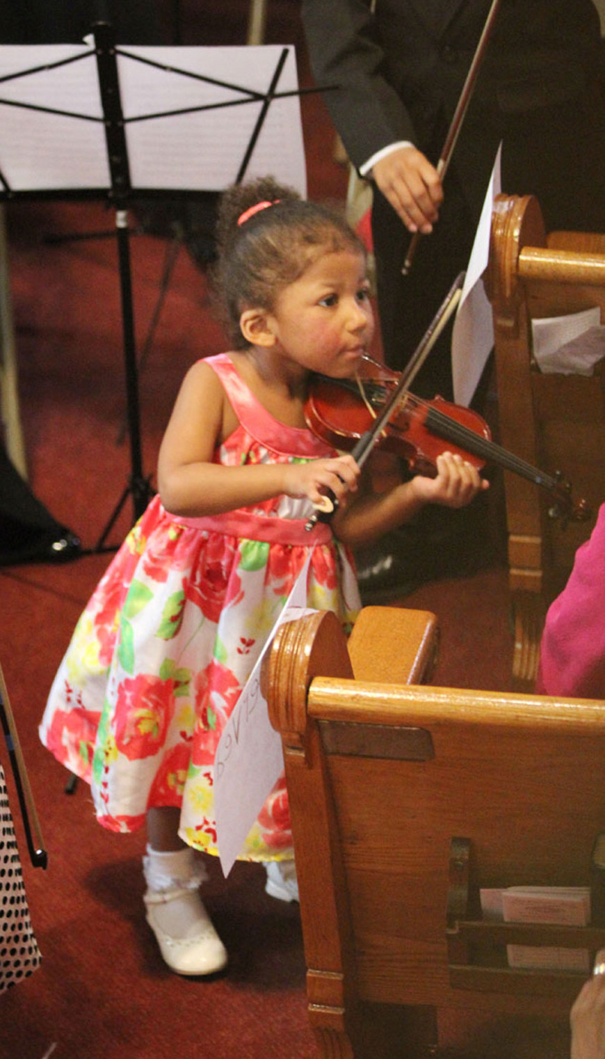 [9] One of the youngest Gateways violinist performed at New Bethel CME Church