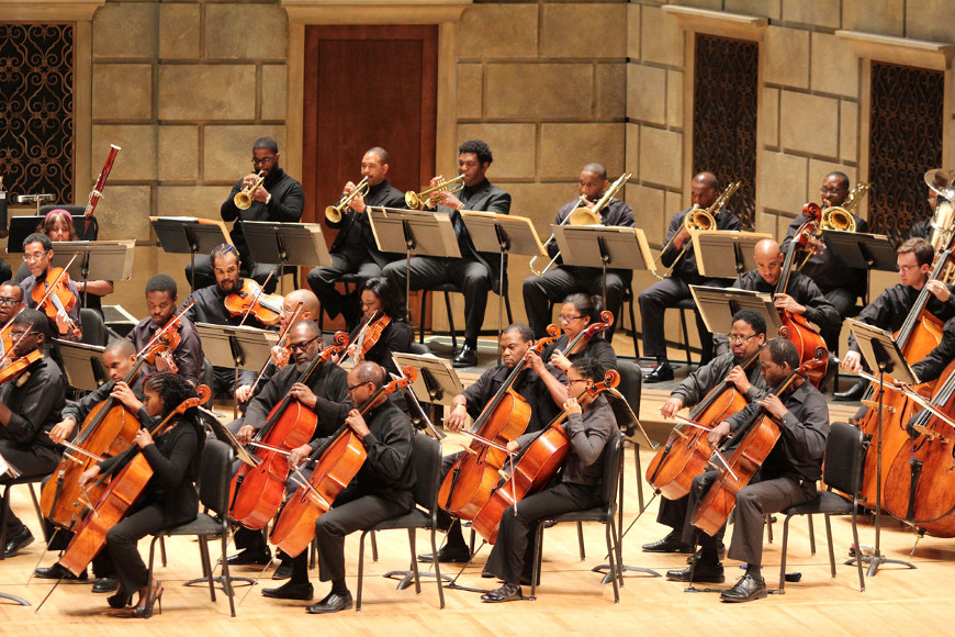 [44] 2013 Gateways Music Festival Orchestra Concert in Kodak Hall at Eastman Theatre, conducted by Michael Morgan