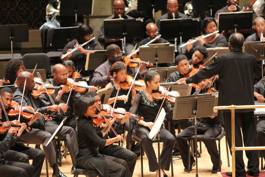[47] 2013 Gateways Music Festival Orchestra Concert in Kodak Hall at Eastman Theatre, conducted by Michael Morgan