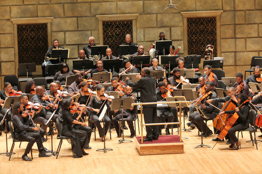 [56] 2013 Gateways Music Festival Orchestra Concert in Kodak Hall at Eastman Theatre, conducted by Michael Morgan