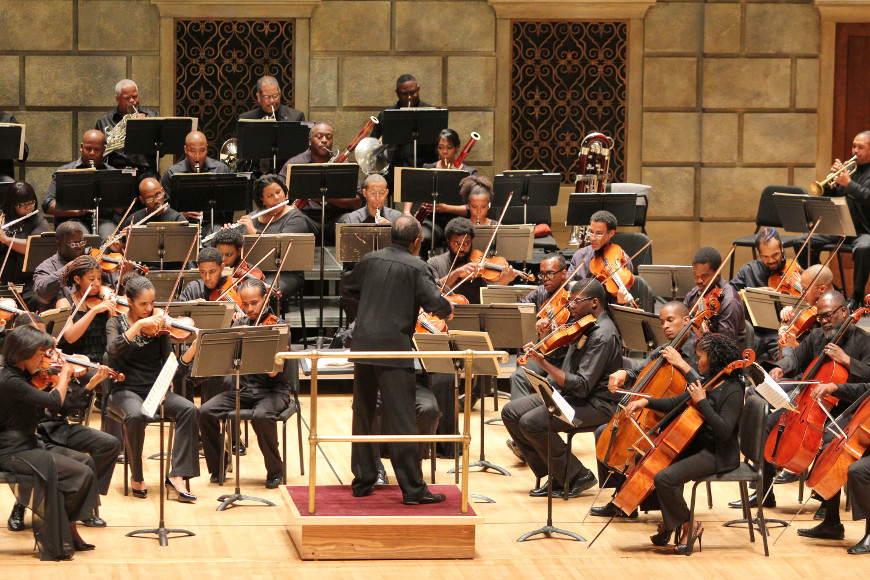 [53] 2013 Gateways Music Festival Orchestra Concert in Kodak Hall at Eastman Theatre, conducted by Michael Morgan