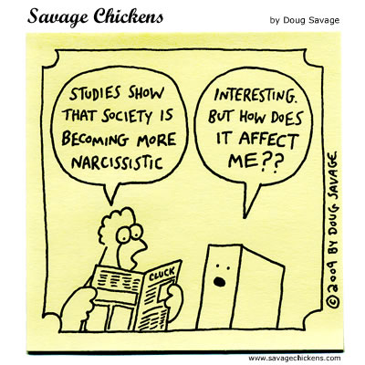 The hilarious, narcissistic chickens of Doug Savage.