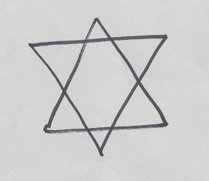 A six pointed star is the symbol of the human soul.