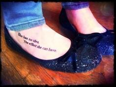 Hunger Games foot tattoo 1