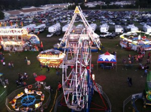 The view from the mega ferris wheel.