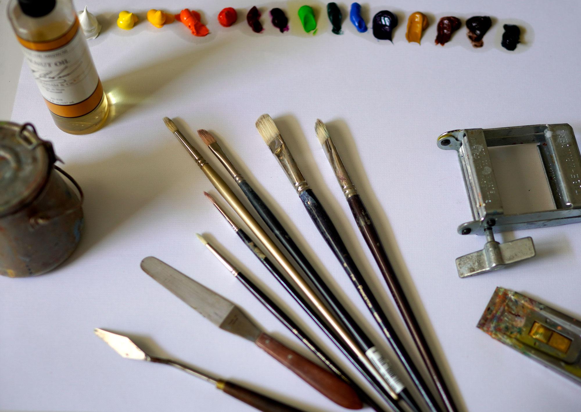Paintbrushes on Canvas Anita Hampton