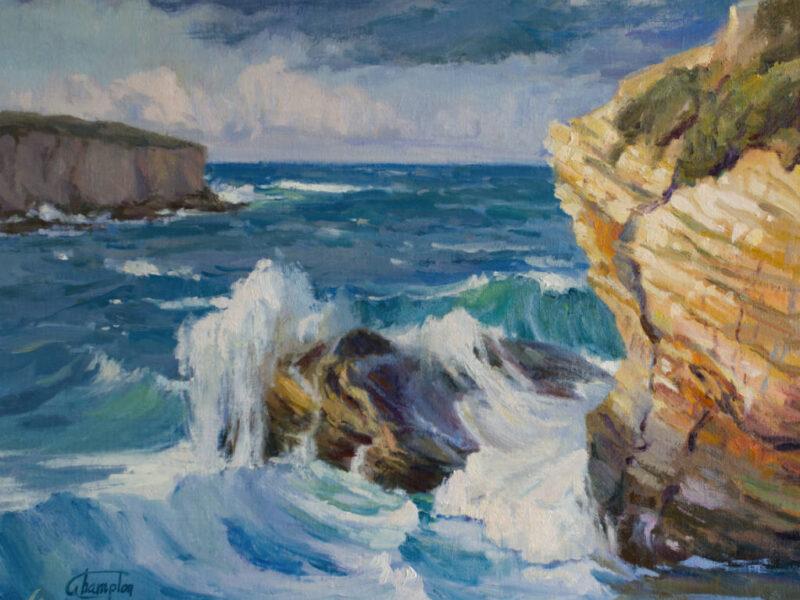 Turbulent Seascape Oil Painting