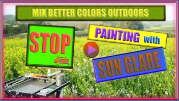 Stop Painting with Sun Glare