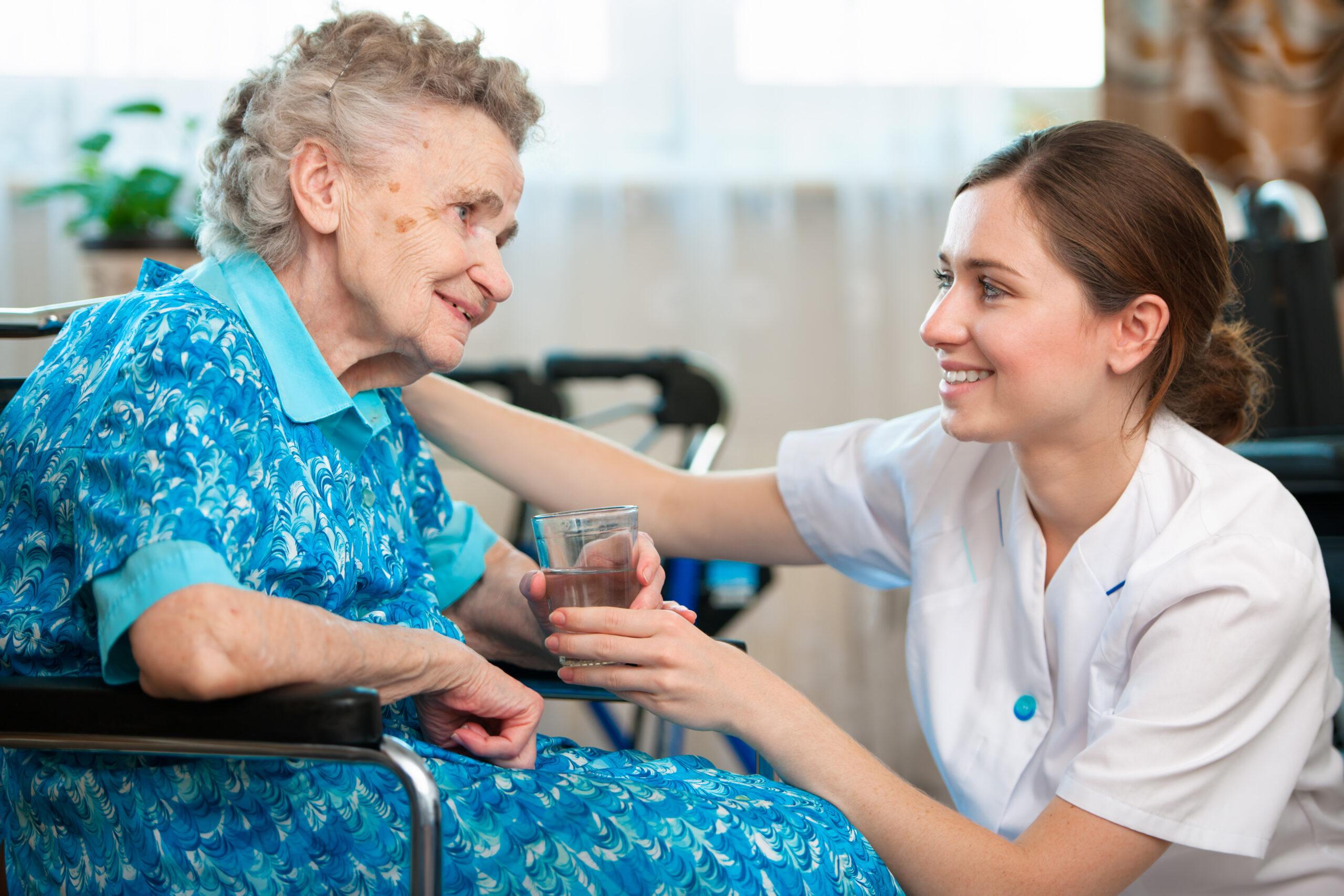 Image of senior with caregiver
