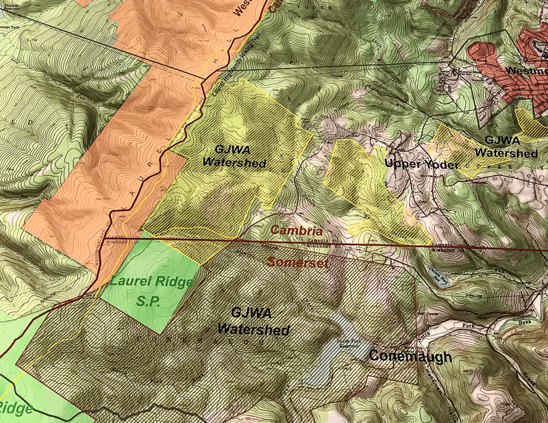 Laurel Ridge is a major landmark on the Allegheny Plateau and serves as an important watershed for Johnstown and near by communities. Fortunately, the plans to lease the Greater Johnstown Watershed to CPV for a wind project were met with public outcry and well-organized resistance.
