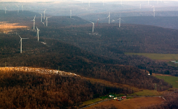 Pennsylvania landowners living in the valley below these wind turbines suffered from lack of sleep, stress, and other health impacts due to the noise and infrasound produced by the turbines.  Their lawsuit against the wind company was settled out of court