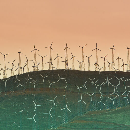 Even wind developers admit that wind turbines impact the scenic landscape.