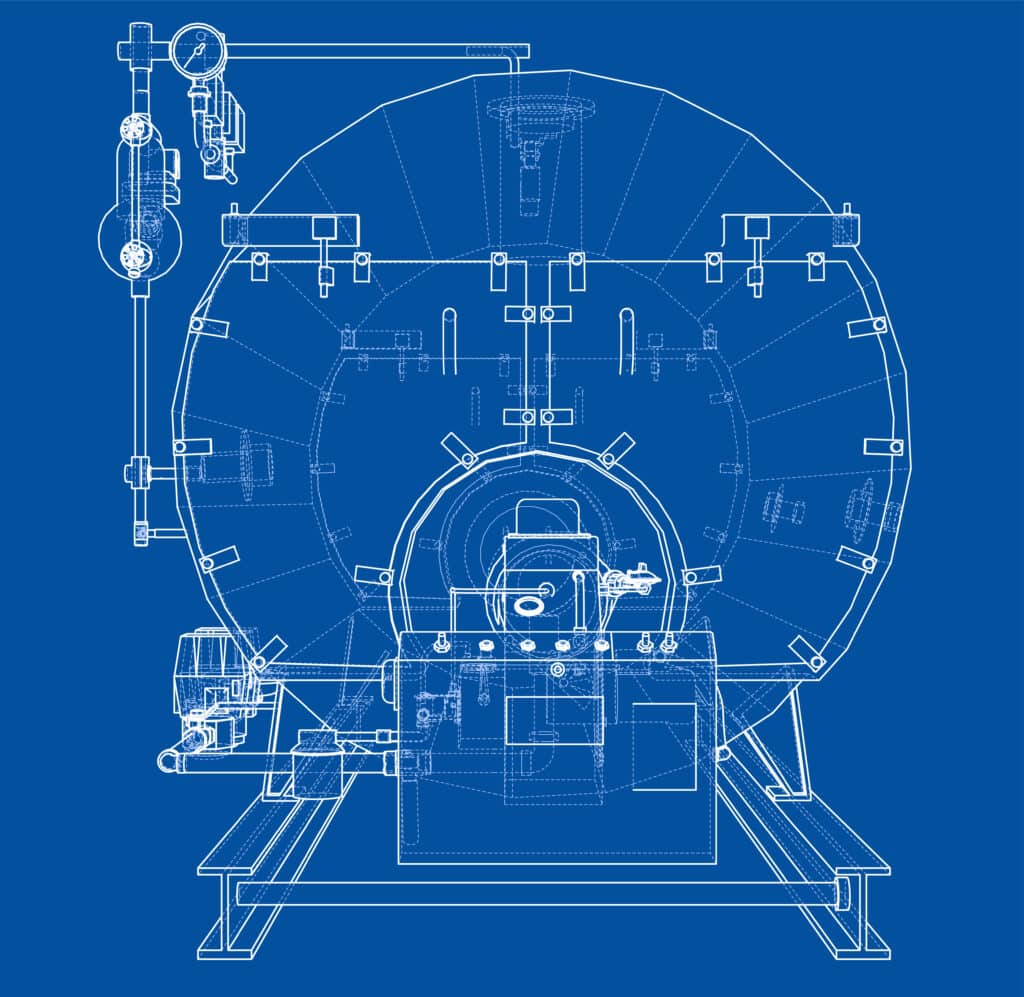 components of a boiler