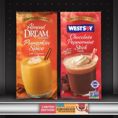 Almond Dream Pumpkin Spice Drink and Westsoy Chocolate Peppermint Stick Soymilk