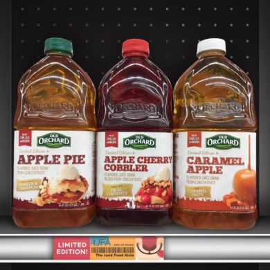 Old Orchard Apple Pie, Apple Cherry Cobbler, and Caramel Apple Juice
