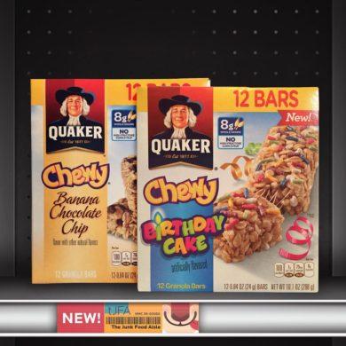 Quaker Chewy Banana Chocolate Chip and Birthday Cake Granola Bars