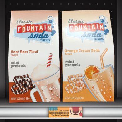 Classic Fountain Soda Flavors Root Beer Float and Orange Cream Soda Mini Pretzels