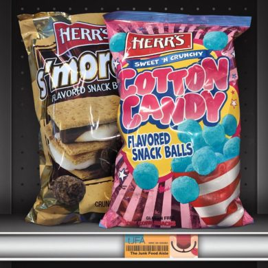 Herr's Cotton Candy and S'more Flavored Snack Balls
