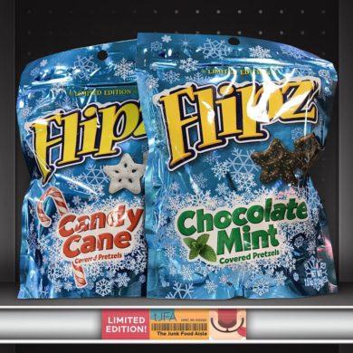 Flipz Candy Cane & Chocolate Mint Covered Pretzels
