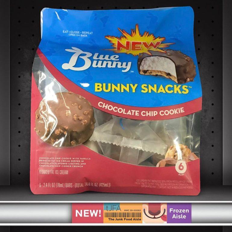 Blue Bunny Ice Cream Bunny Snacks: Chocolate Chip Cookie