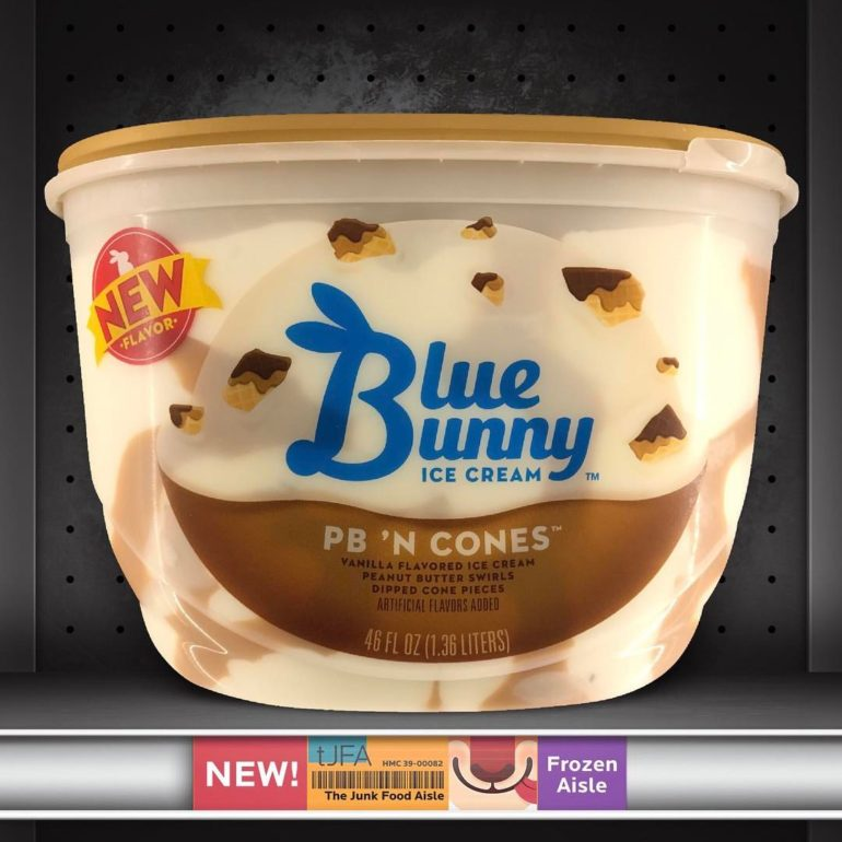 PB 'N Cones Blue Bunny Ice Cream