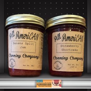 All AmeriCAN Canning Company Banana Split and Strawberry Shortcake Jams