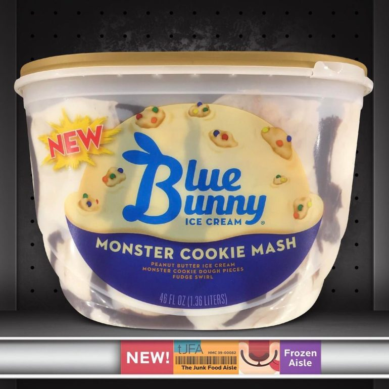 Blue Bunny Monster Cookie Mash Ice Cream