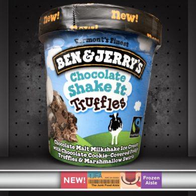 Ben & Jerry's Chocolate Shake It Truffles Ice Cream