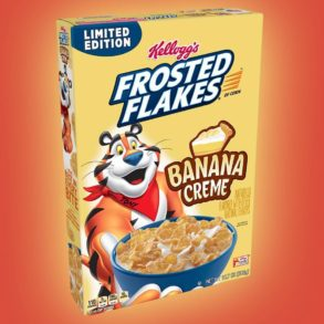 Coming Soon: Banana Creme Frosted Flakes!