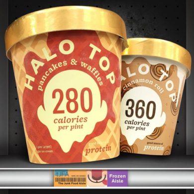 Halo Top Pancakes & Waffles and Cinnamon Roll Ice Cream