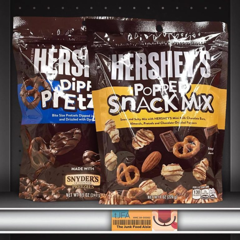 Hershey's Popped Snack Mix and Dipped Pretzels