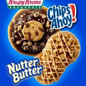 Krispy Kreme Chips Ahoy! & Nutter Butter Doughnuts