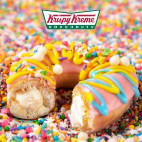 Original Filled Birthday Batter Krispy Kreme Doughnuts Will Be Available Next Week!