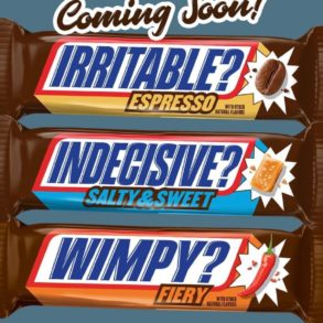 Snickers Espresso, Fiery, and Salty & Sweet