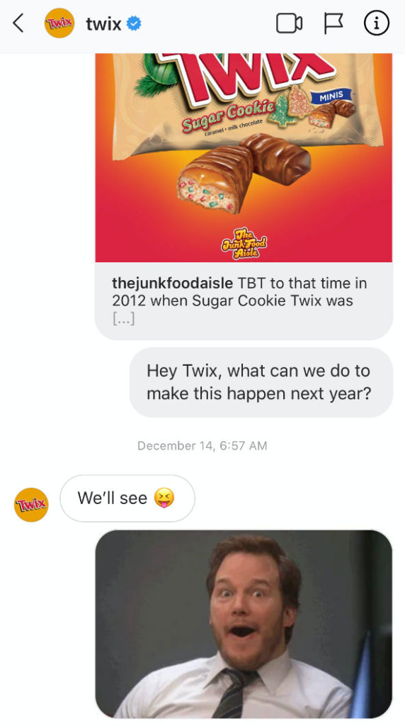 Hey Twix, what can we do to make this happen next year? - We'll see :-P