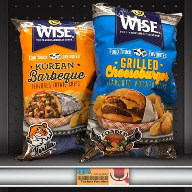 Wise Food Truck Favorites Korean Barbeque and Grilled Cheeseburger Potato Chips