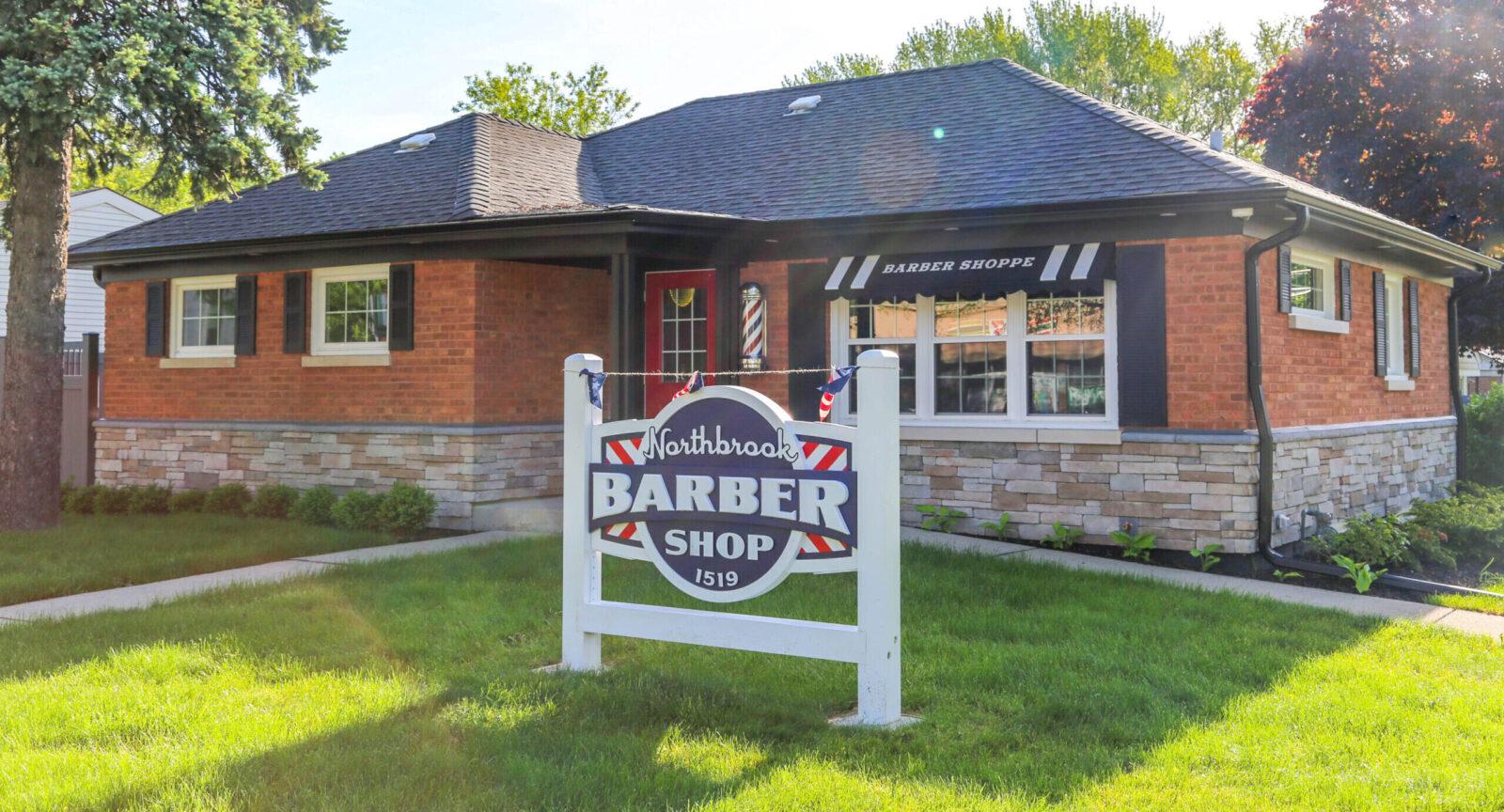 Northbrook Barber Shop sign
