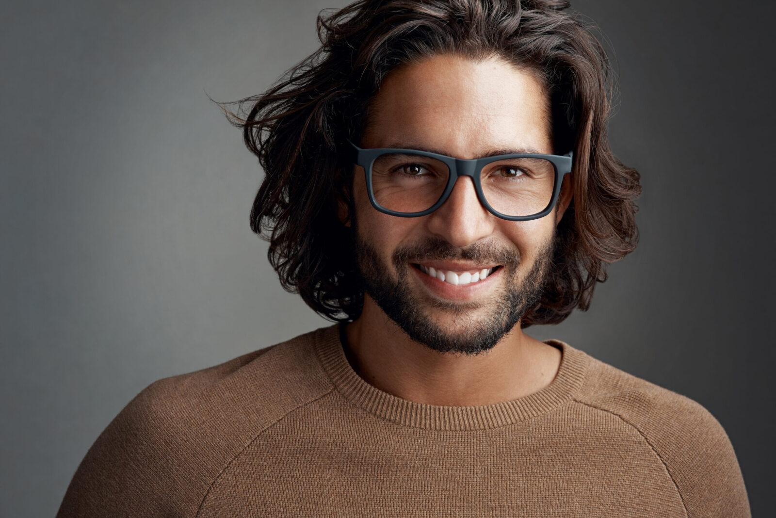 Men's chin length bob