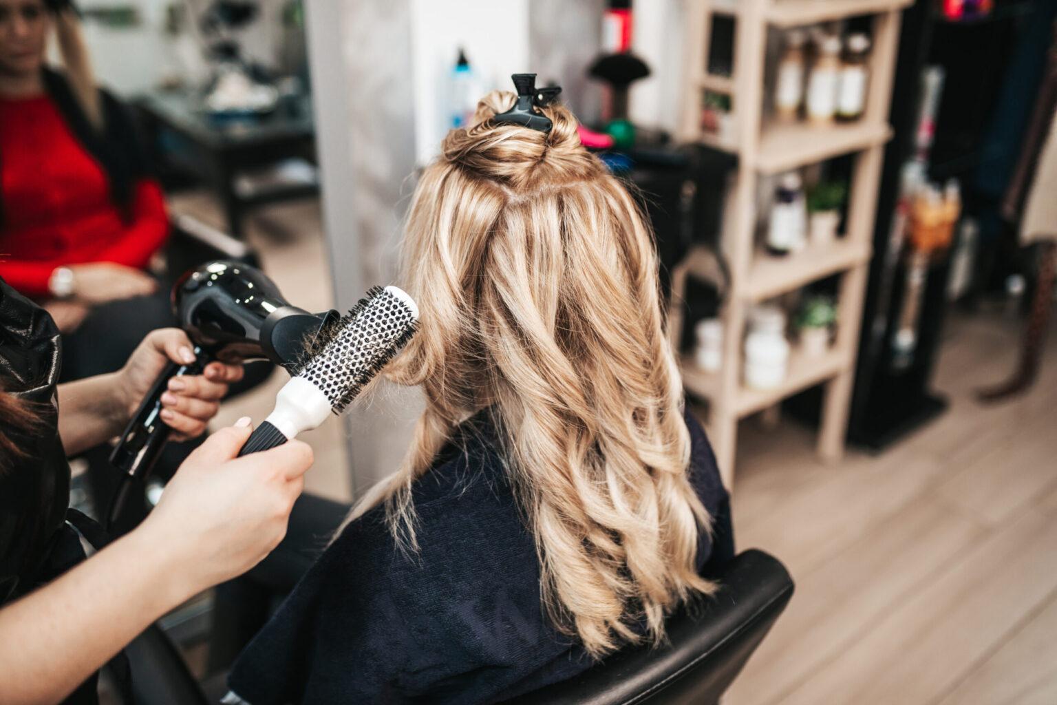 Curling long hair