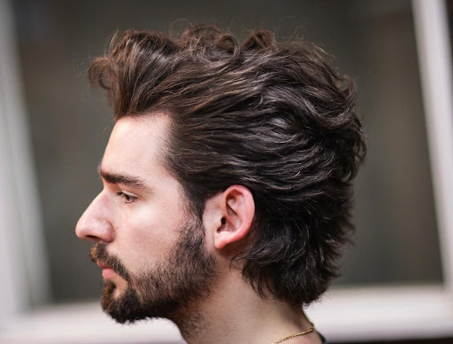 Men's medium length haircut