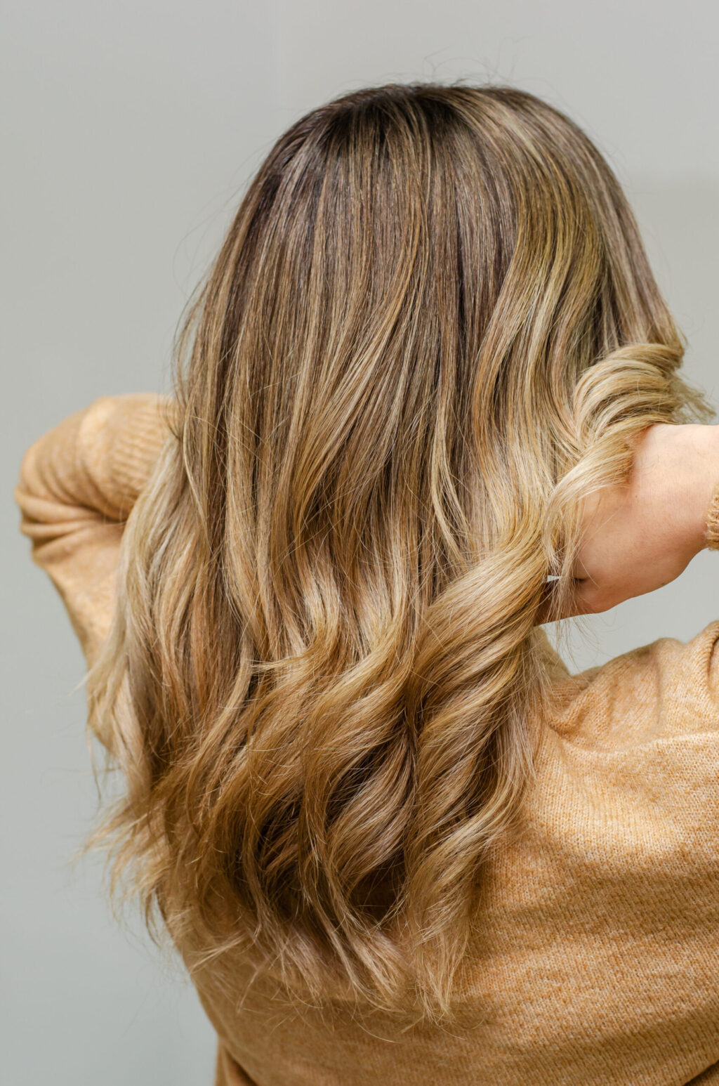 Women with blonde ombre