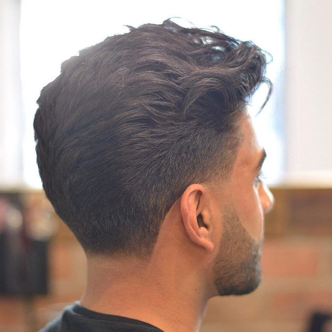 Men's taper haircut