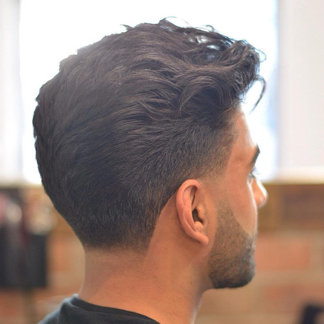 Men's taper haircut