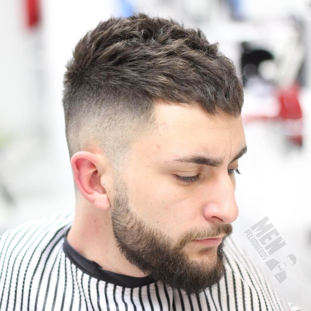 Men's textured crop haircut