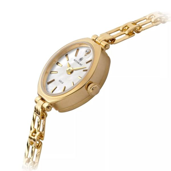 Accurist 9ct Gold Oval Bracelet Watch