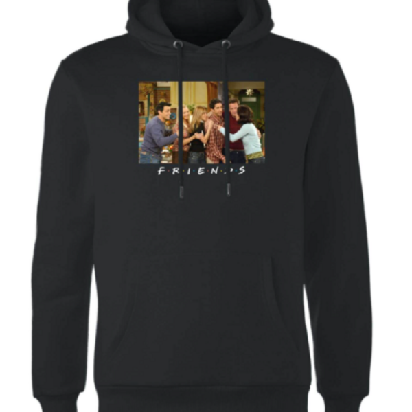 Friends Cast Shot Hoodie – Black